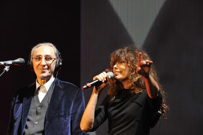 © Massimo Forchino / lapresse12-11-2009 Sanremo, ItaliaspettacoloPremio Tenco - Festival della Canzone d'AutoreNella Foto:Alice e Battiato